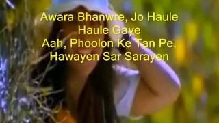 Awaara Bhanwara ( Sapnay ) Free karaoke with lyric by Hawwa -