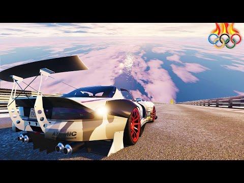 GTA STUNT OLYMPICS - GTA 5 DLC NEW IMPOSSIBLE CUSTOM STUNT RACES (GTA V)