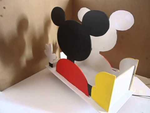 Centro de mesa mikey mouse en madera mdf youtube for Centros de mesa de madera
