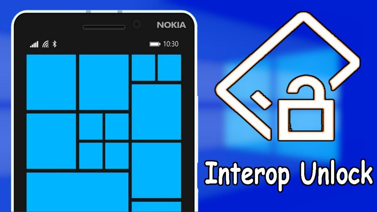 Interop unlock for windows 10 mobile