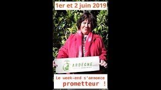 1er et 2 juin 2019 : Un week end qui s'annonce prometteur !
