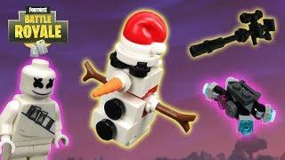 Lego Fortnite - (Marshmello, Silenced Sniper Rifle, Sneaky Snowman And Boom Box)