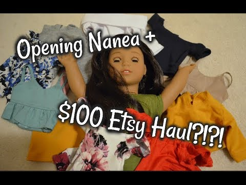 $100 Etsy Haul + Nanea Unboxing!! American Girl Etsy Clothing | AngelMarieBoutique