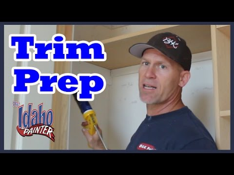 CAULKING AND SPACKLING TIPS.  DIY How to paint trim.  Tips painting trim work.