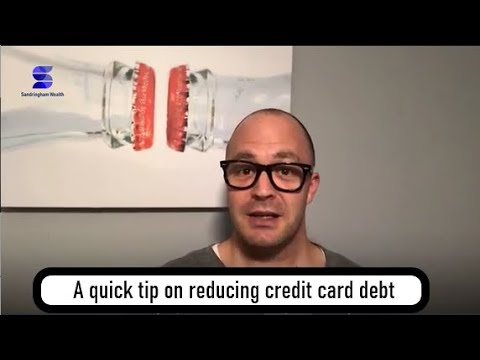 A quick tip on reducing credit card debt
