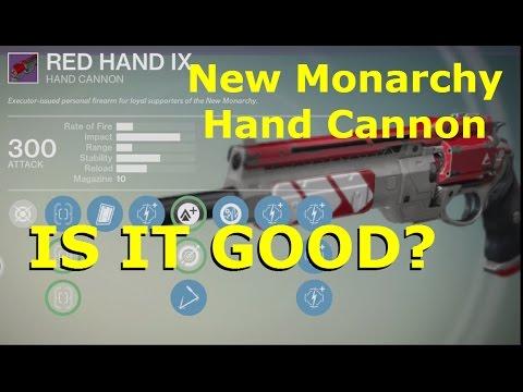 Destiny red hand ix legendary hand cannon is it good 21 pvp