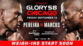 GLORY 58 Chicago:  Opening Betting Odds and Weigh-Ins Video