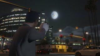 GTA 5: how to make a portal to the moon - (GTA 5 portal to the moon)