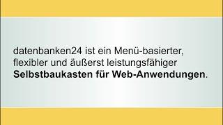 datenbanken24 Online-Präsentation