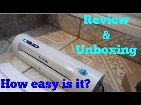 UNBOXING SCOTCH THERMAL LAMINATOR & REVIEW