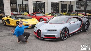 Surprise BUGATTI CHIRON Drive to Collect an Aventador SVJ!