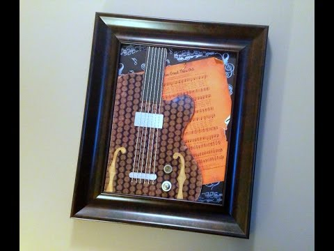 Wall Art Mixed Media Guitar Sheet Music Part 2 of 2