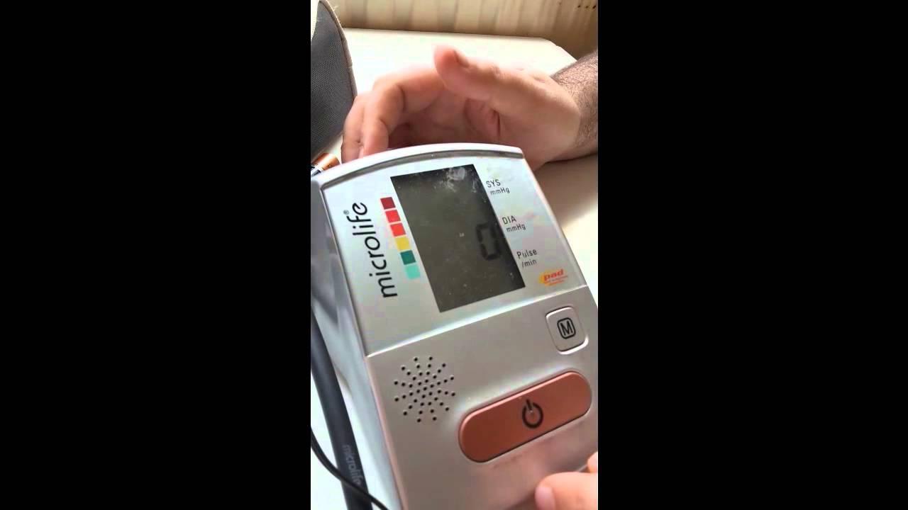 Апарат за кръвно налягане Microlife - YouTube