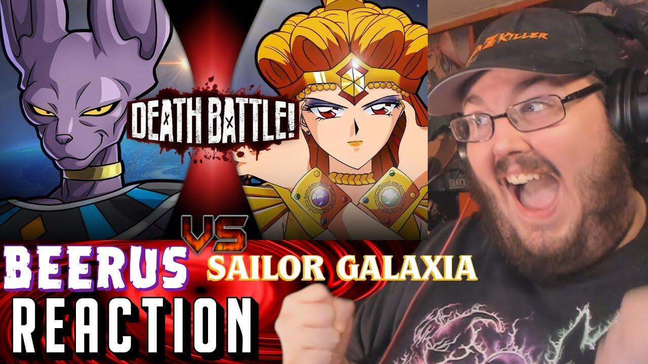 Beerus VS Sailor Galaxia (Dragon Ball VS Sailor Moon)   DEATH BATTLE! REACTION!!!