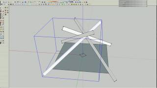 Reciprocal Roof Frame In Sketchup