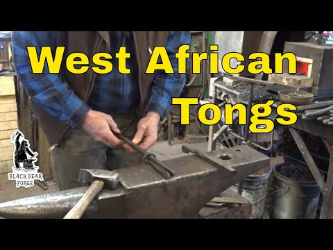 West African tongs - making blacksmiths tongs without tongs