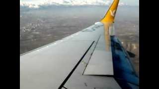 Pegasus Airlines B737-800 TC-AAS Landing in Kayseri (Great view of Mount Erciyes)