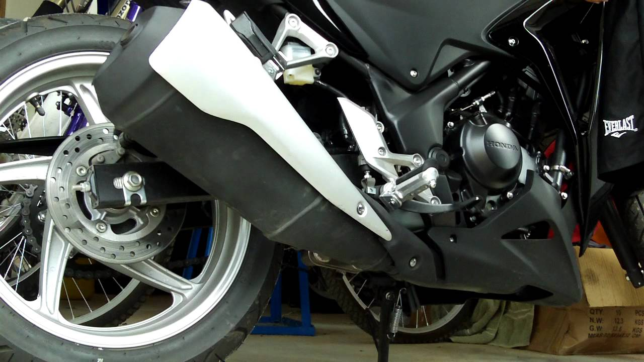 Cbr250r Stock Exhaust Muffler Silencer Youtube