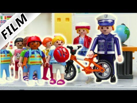 Playmobil Film deutsch | Fahrradprüfung in der Grundschule | Polizei erklärt Verkehrsregeln
