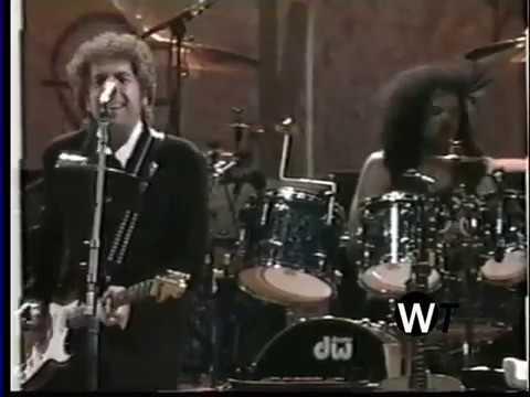Bob Dylan -t al llarg de la torre de vigilància (en viu) a Woodstock 1994)