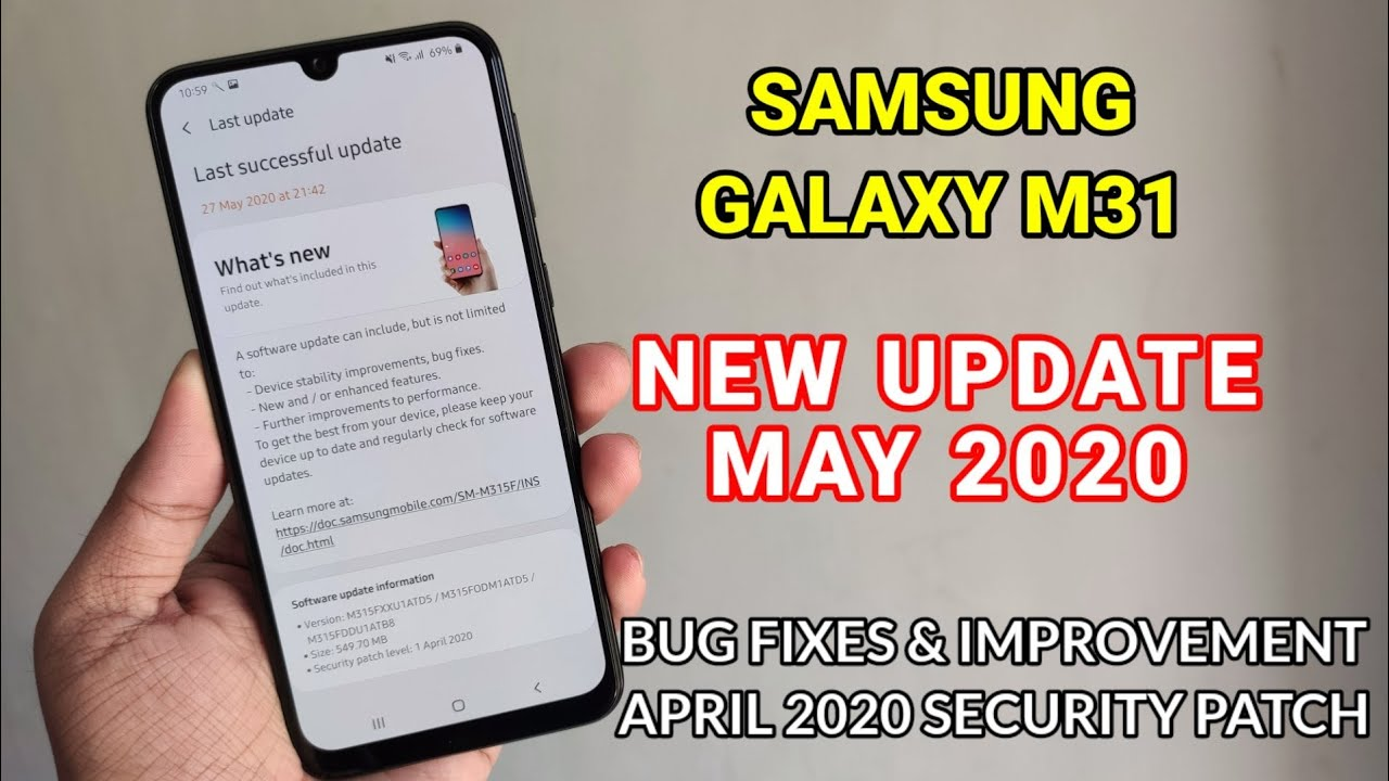 Samsung Galaxy M31 : New Update With April Security Patch