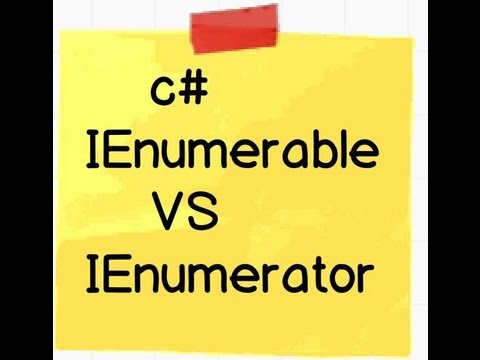 c Csharp and .NET : Difference between IEnumerable and IEnumerator.