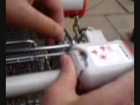 Hacking shopping trolley with tray type!!