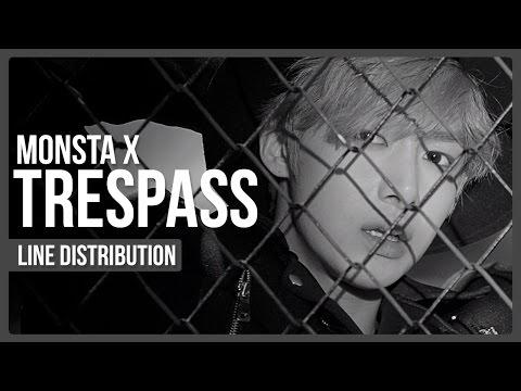 Monsta X - Trespass Line Distribution (Color Coded)