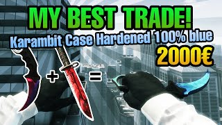 CS:GO - MY BEST TRADE! Karambit Case Hardened 100% Blue - 2000 € Value