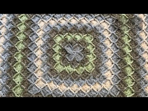 How To Crochet A Bavarian Square Youtube