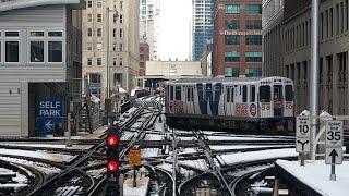 Chicago Transit Authority Chicago 'L' Purple Line 5000 Series Clock...