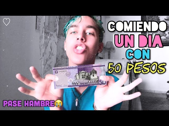 COMIENDO CON 50 PESOS POR UN DIA EN REPUBLICA DOMINICANA (25 PESOS MEXICANOS | 1 DOLLAR) ?