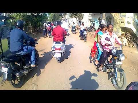 Davangere Nittuvalli to JJMMC bike cam ride video