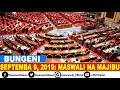 MASWALI NA MAJIBU BUNGENI 09 SEPTEMBA, 2019