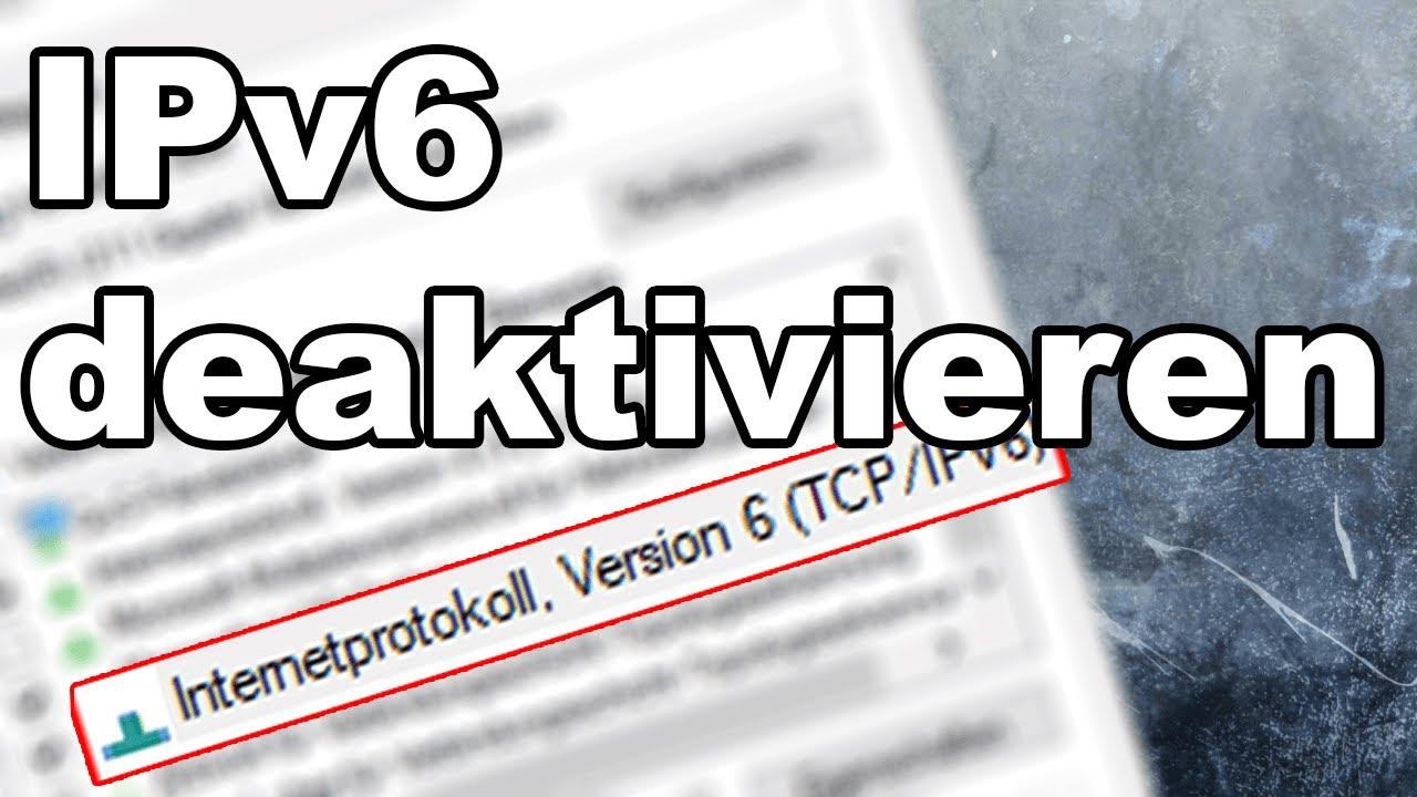 Ipv6 Deaktivieren