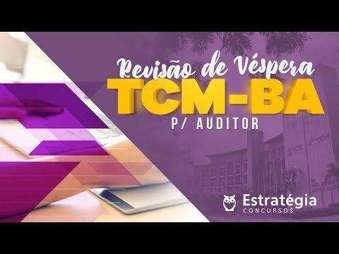 TCM-BA | Revisão de Véspera AO VIVO ÀS 8H30min