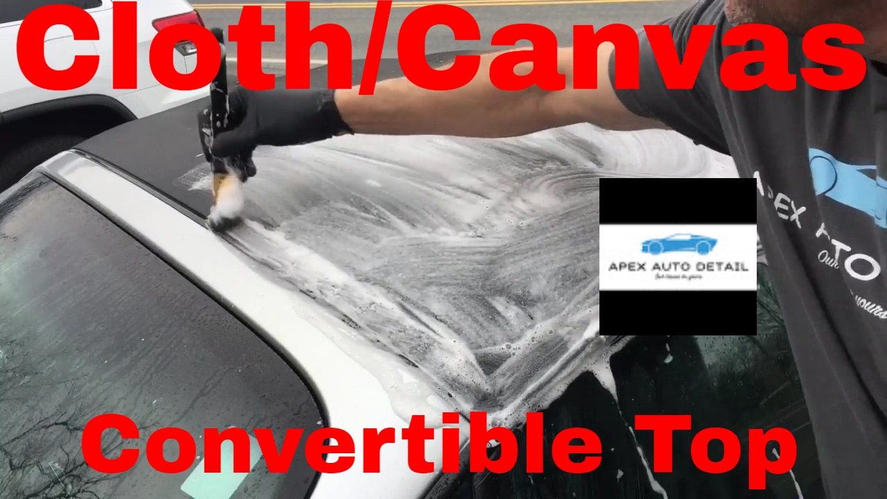 How To Clean And Protect A Cloth Canvas Convertible Top Angelwax Shield