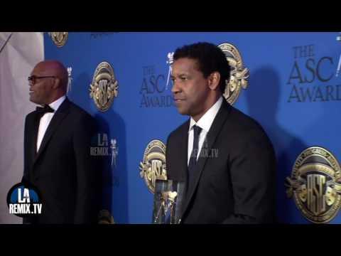 Denzel Washington accepts the ASC Board of Governors Award