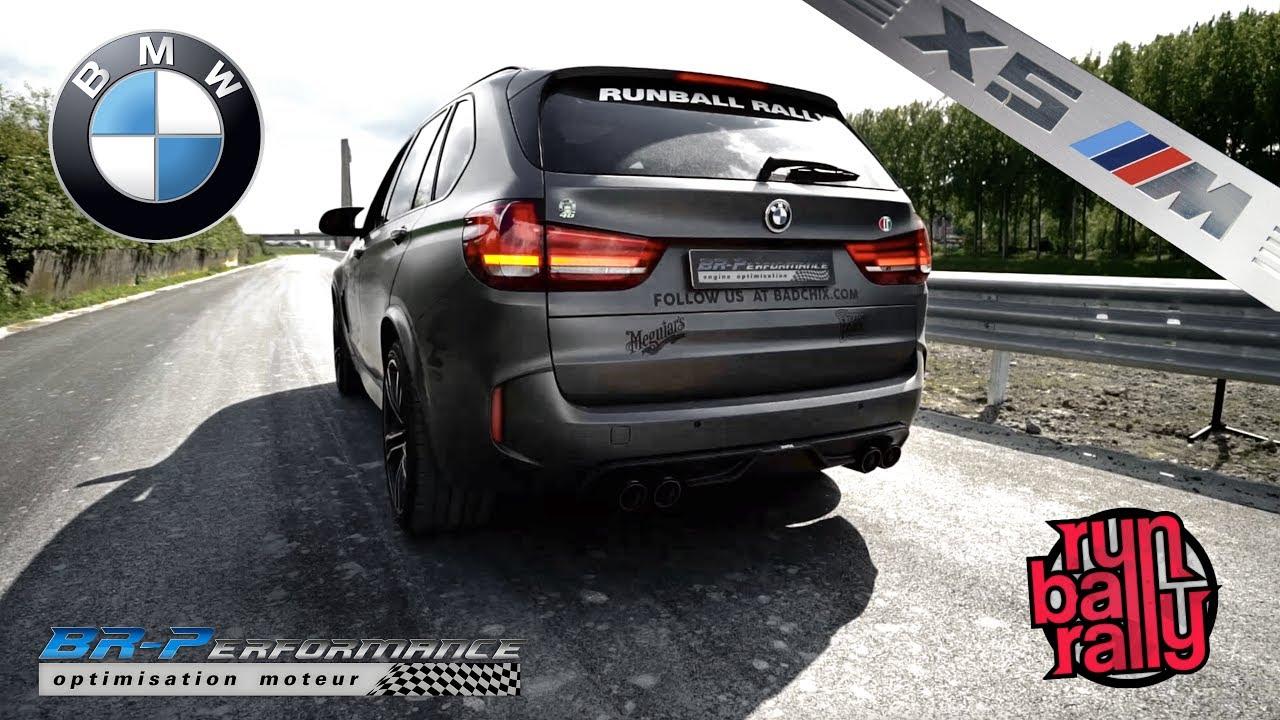 BMW F85 X5M exhaust Akrapovic & Rear Carbon Fiber diffuser By BR-Performance
