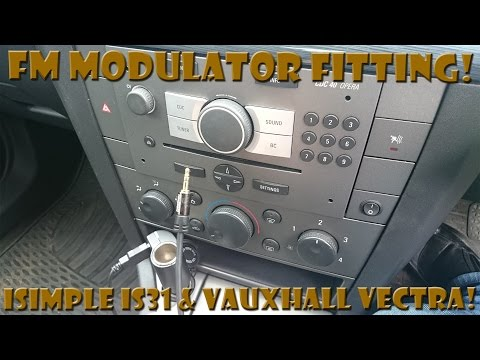 iSimple IS31 FM Modulator fitting with CDC 40 Opera (Vauxhall Vectra)