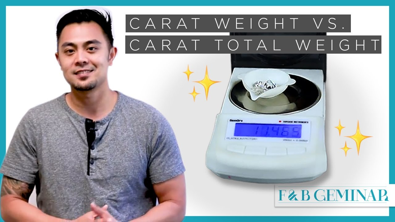 Carat Weight V Carat Total Weight Explained Youtube