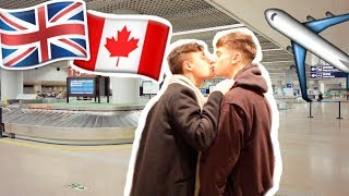 MEETING MY BOYFRIEND FOR THE FIRST TIME IN THE AIRPORT! Internet relationships meeting!