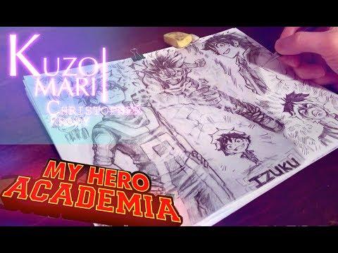 Speed Drawing FULL PAGE Izuku Midoriya | My Hero Academia | Anime Manga Sketch