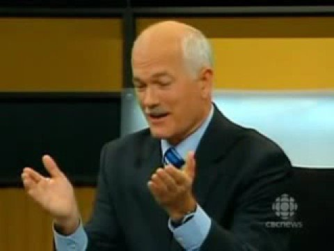 Priceless Moments during 2008 Canadian Debate - Jack Layton wins