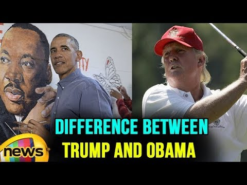 The difference between Trump and Obama in Pictures On Martin Luther King day | Mango News