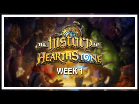 THE HISTORY OF HEARTHSTONE, Week 1 [Full VOD] — A six-week online tournament of nostalgia