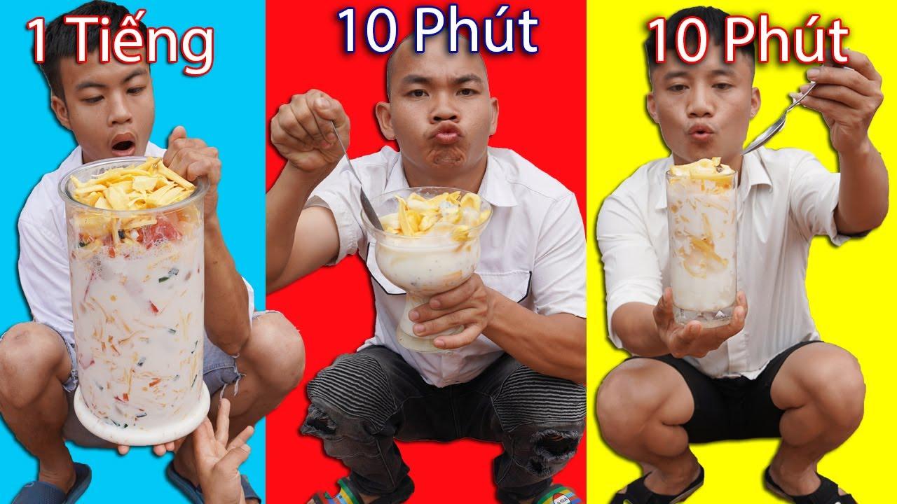 Hưng Troll | Thử Thách Sữa Chua Mít 1 Phút Vs 10 Phút Vs 1 Tiếng - Sữa Chua Mít Nào Ngon Hơn