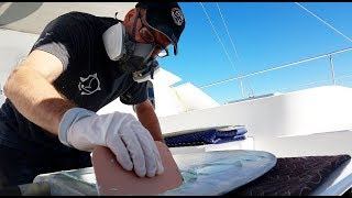 Onboard Lifestyle ep. 56 Rudder Repairs On Our Catamaran (Part 3)