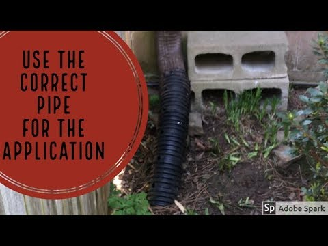Downspout Drain Line - Most Common Mistake -