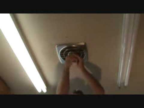 How to remove a kitchen exhaust fan...Part 1